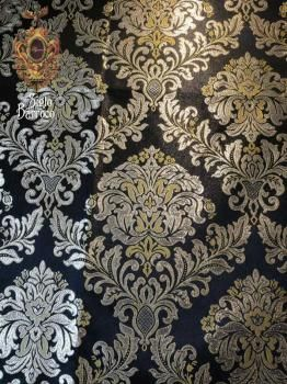 Tela De Seda Entretejida Con Hilos De Oro O Plata O De Seda Más Brillante Formando Dibujos De Flores Animales Damask Stencil Glitter Wallpaper Texture Design