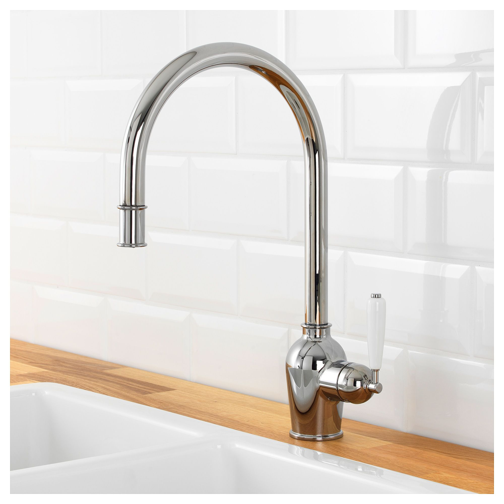 Ikea Küchenarmatur InsjÖn Kitchen Faucet With Pull Out Spout Chrome Plated The