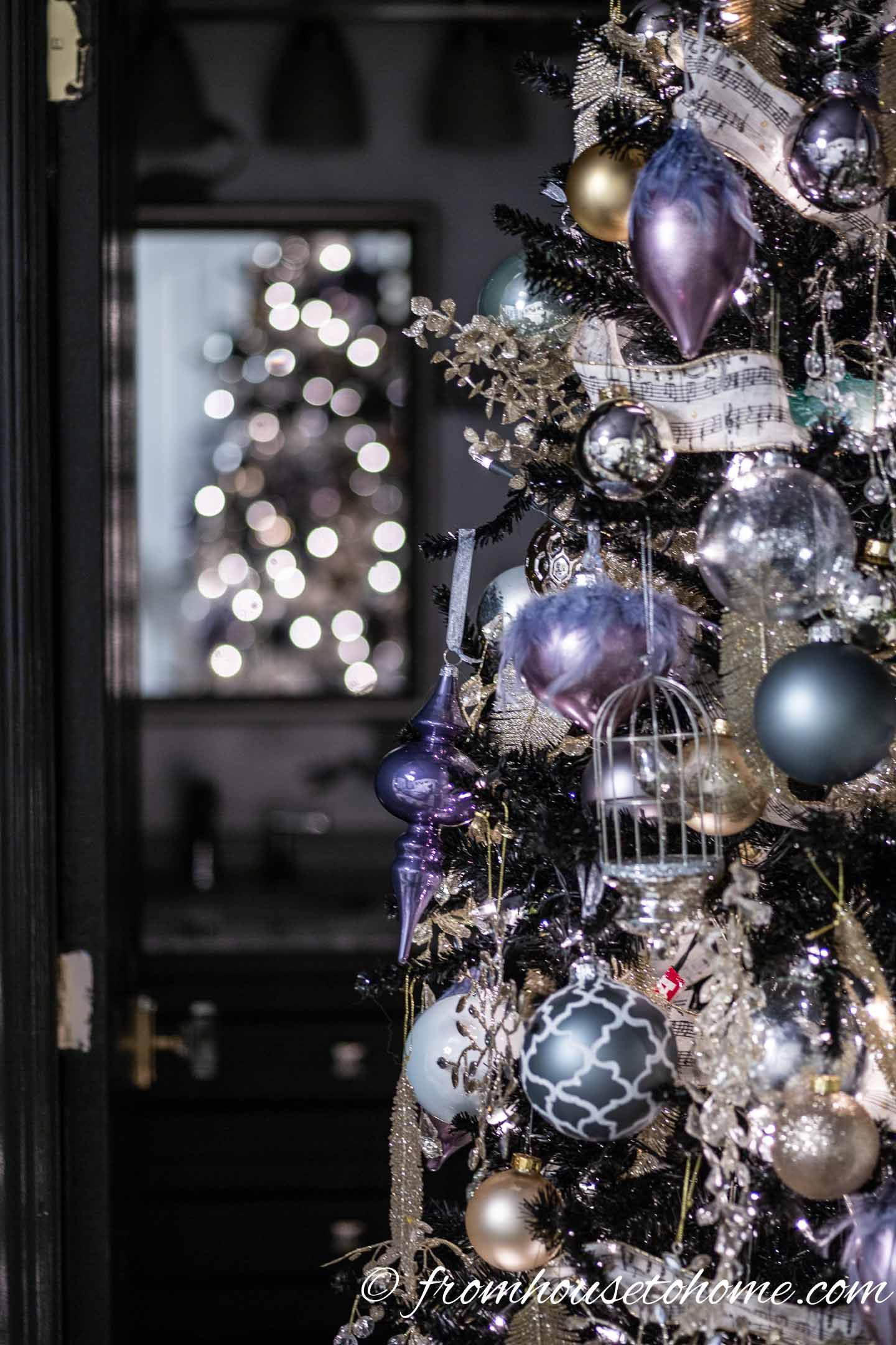 Purple Christmas Decor Ideas and 11 Other Christmas Home Tours