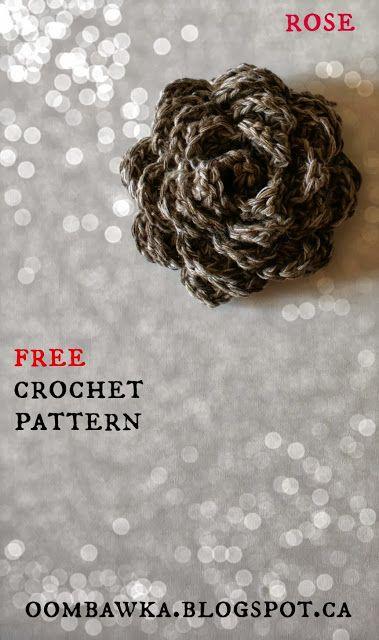 free crochet rose pattern | Crochet | Pinterest | Puntadas, Patrones ...
