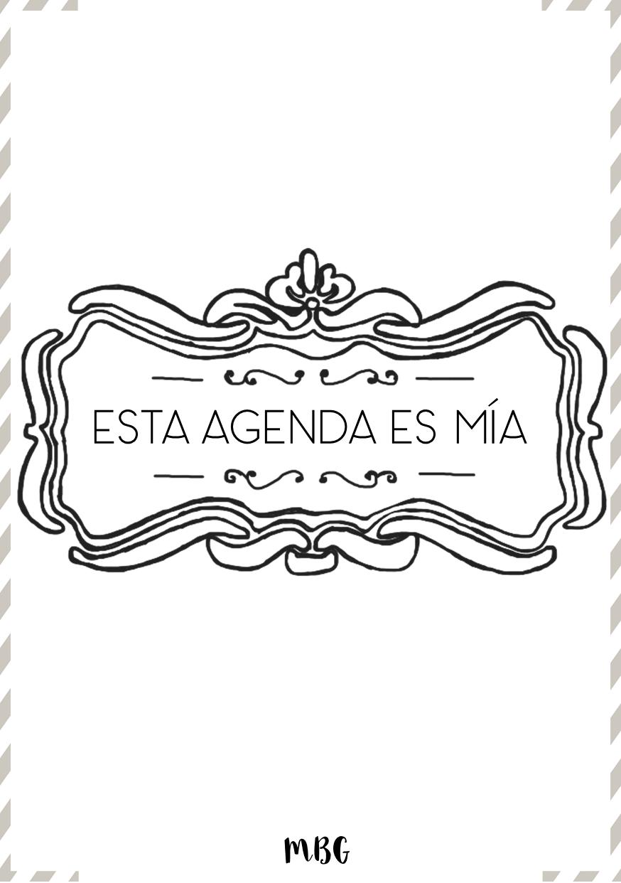 portadas de agenda con marcos | Blog | Pinterest | Portadas de ...