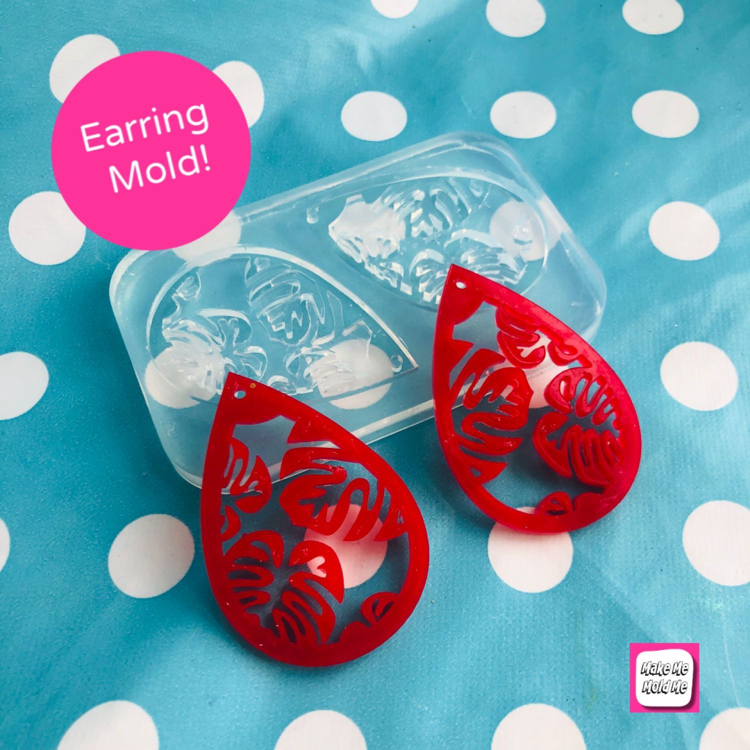 Etched Fan Stud Earring Silicone Mould