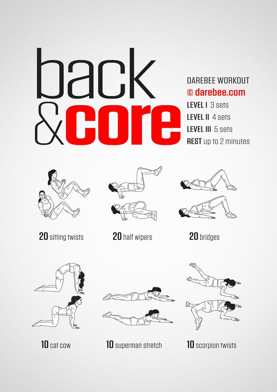 Back Core Workout Quick Morning Workout Morning