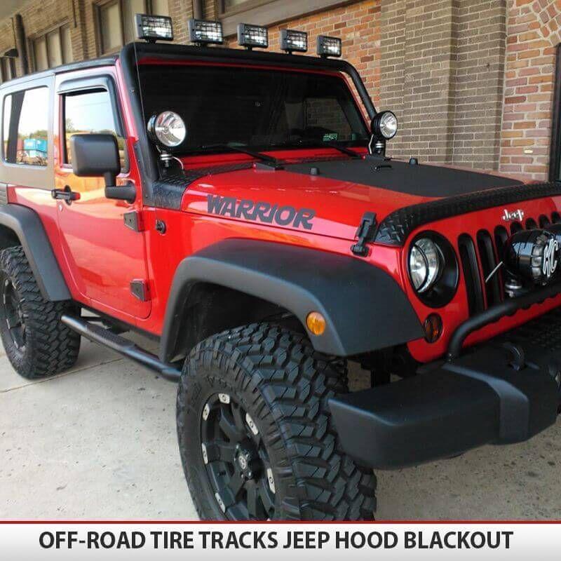 Official Jeep Accessories: Jeep Wrangler JK Blackout Hood