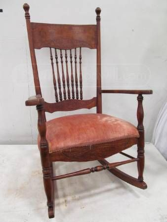Vintage spindle rocking chair