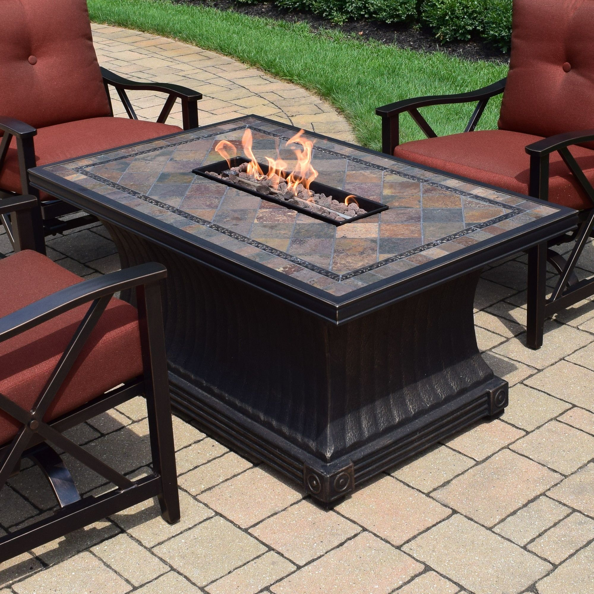 Vienna Dining Table With Firepit Propane Fire Pit Table Fire Pit Table Gas Fire Pit Table