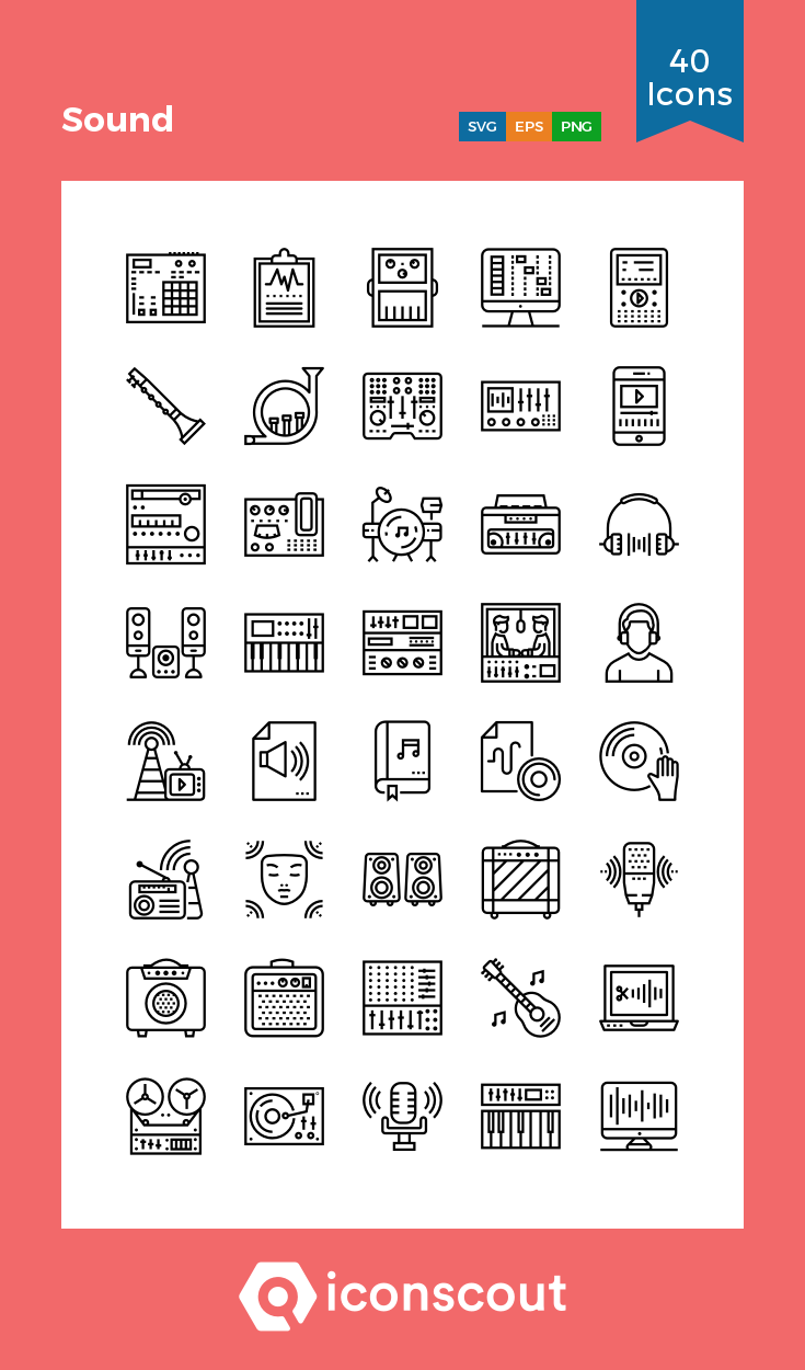 Download Sound Icon pack Available in SVG, PNG, EPS, AI