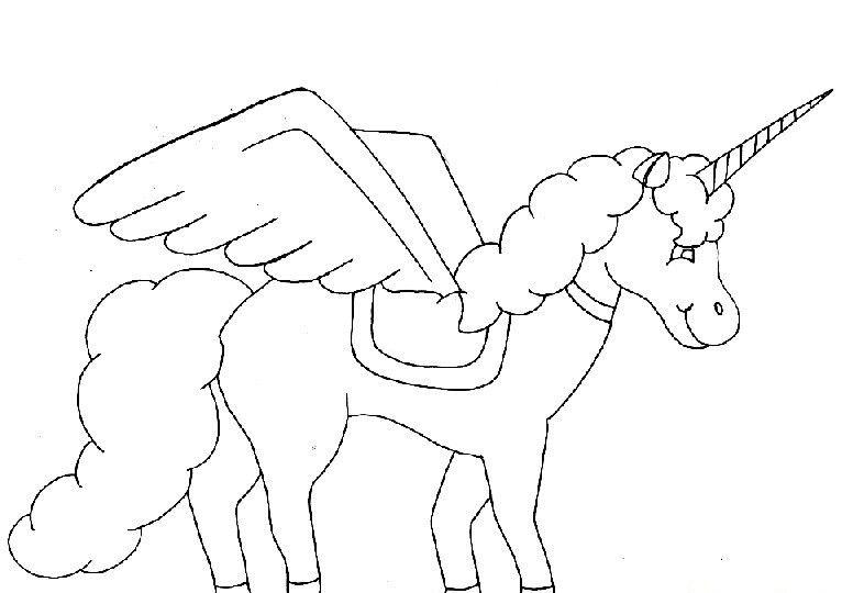 Pegasus Tek Boyunlu At Boyama Sayfası Okul öncesi Etkinlik
