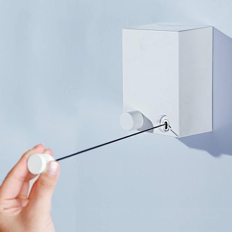 Retractable Wall Hanger Indoor Clothes Dryer Auto Telescopic Magic Drying Rack