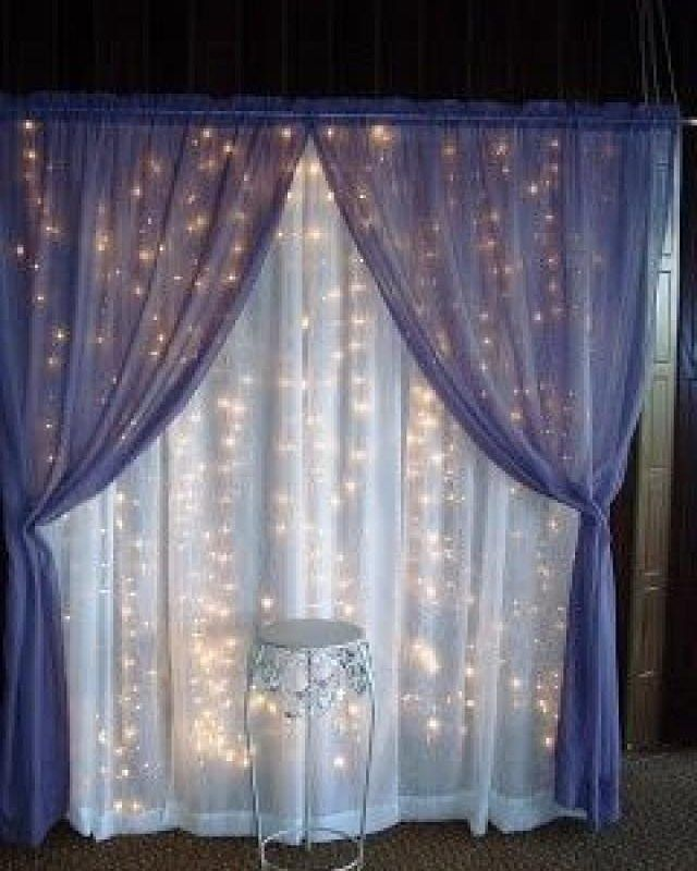 Magical Wedding Backdrop Ideas: Beautiful #fairylights #draping Add A Magical Touch To