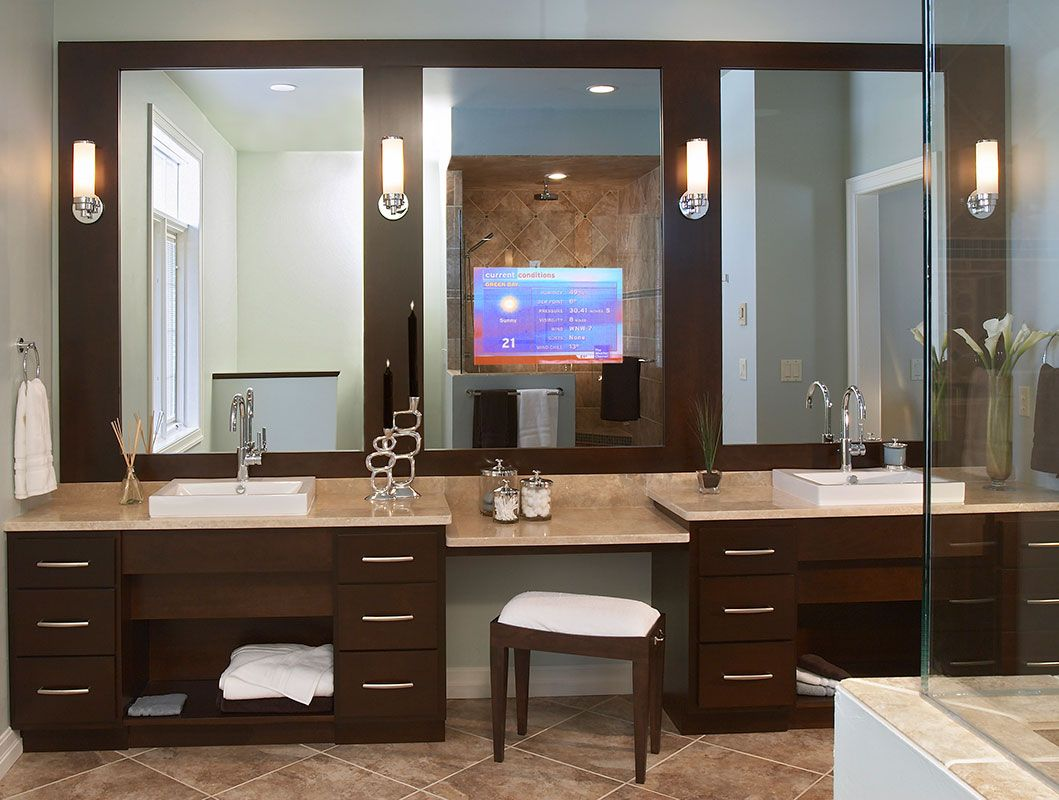 Beautiful Tv Mirror Bathroom