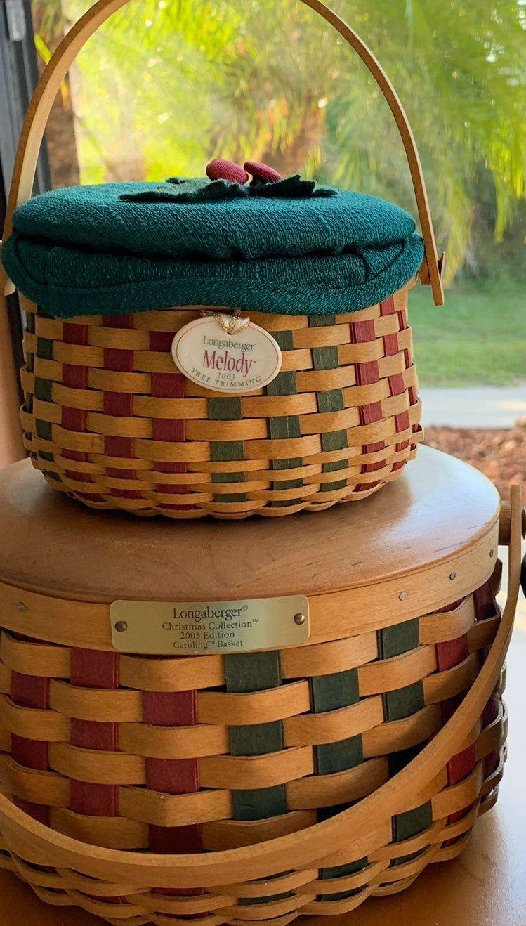 Christmas basketsvery collectible please read description
