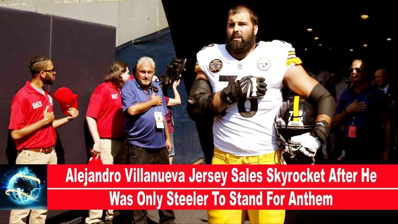 huge selection of ad521 d3d2e Alejandro Villanueva Jersey Sales Skyrocket After He Was ...