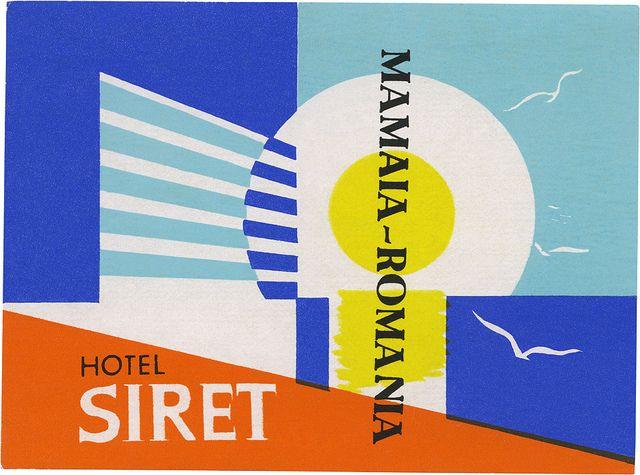 Hotel Siret, Mamaia (75mm x 101mm) by davidgeorgepearson, via Flickr