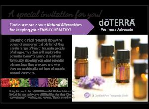 Class Invitation Postcard Lavender doTERRA Pinterest