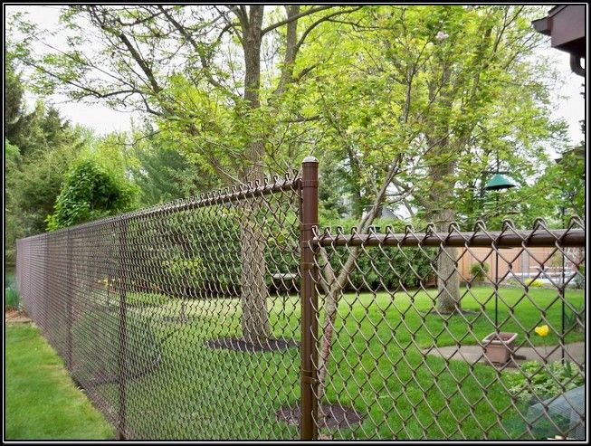 Brown Coated Chain Link Fence Chain Link Fence Chain Fence Fence