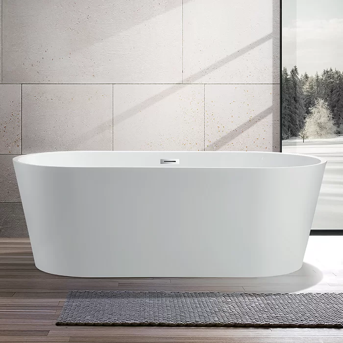 59 X 30 Freestanding Soaking Bathtub In 2020 Soaking Bathtubs