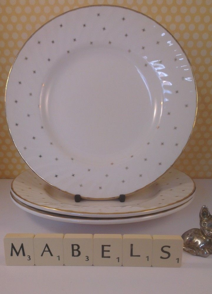 Laura Ashley 3 Starlight Side Plates Mabel S Tableware Available To Buy From Www Mabelstableware Co Uk Plates Side Plates Tableware