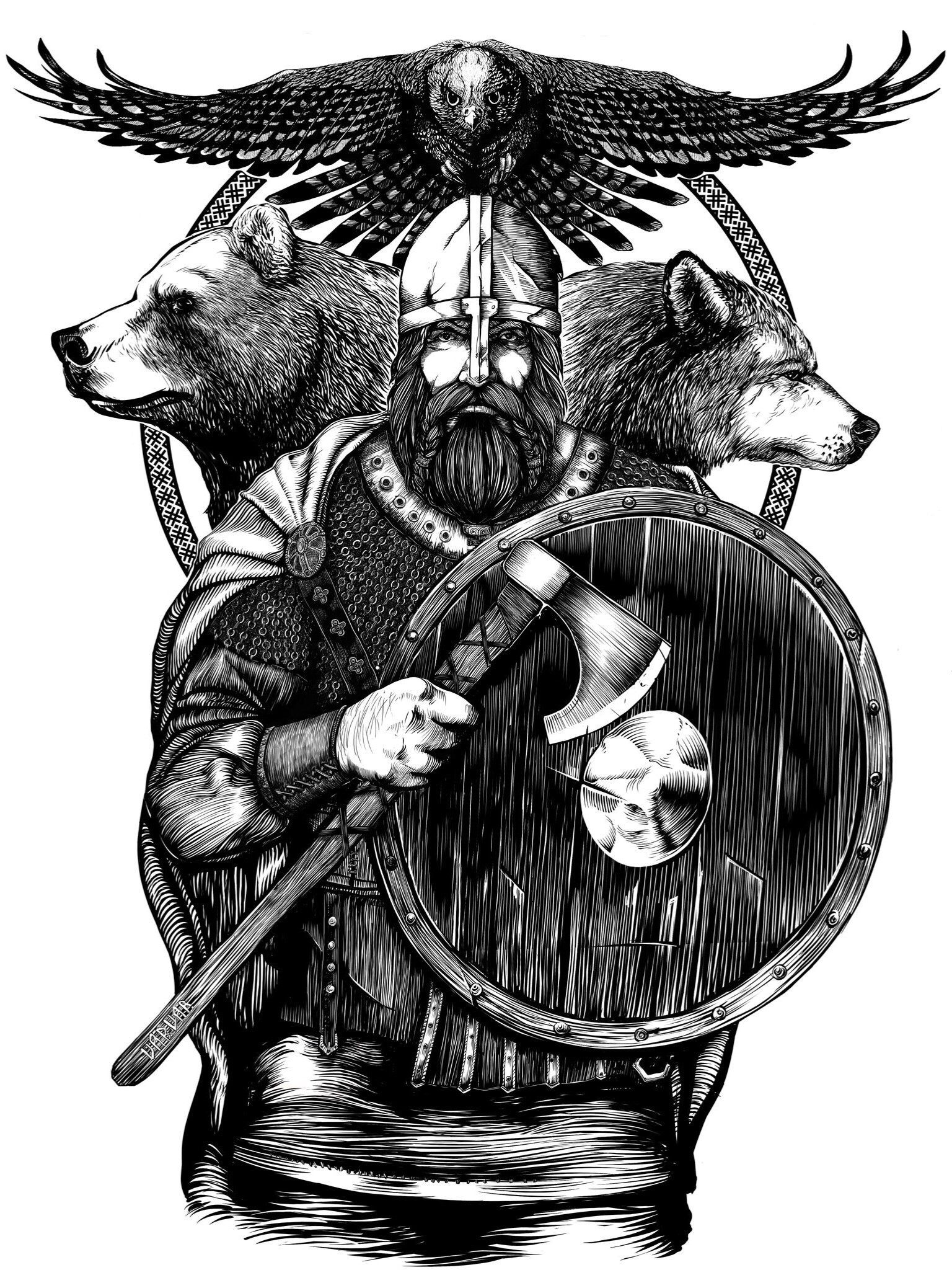 Viking Berserk Desenhos Nordic Tattoo Viking Tattoos Bear