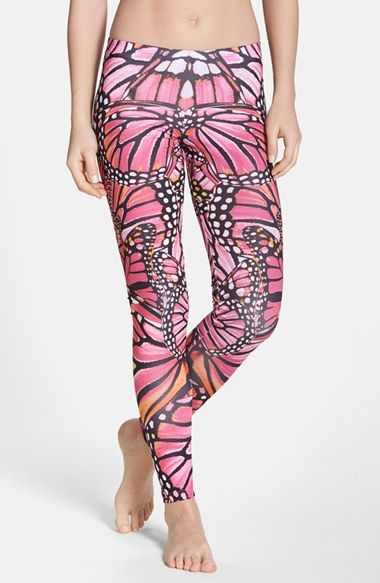 2da7f7529a435c adidas Butterfly Print Leggings Are these appropriate for spin class? I  think so.