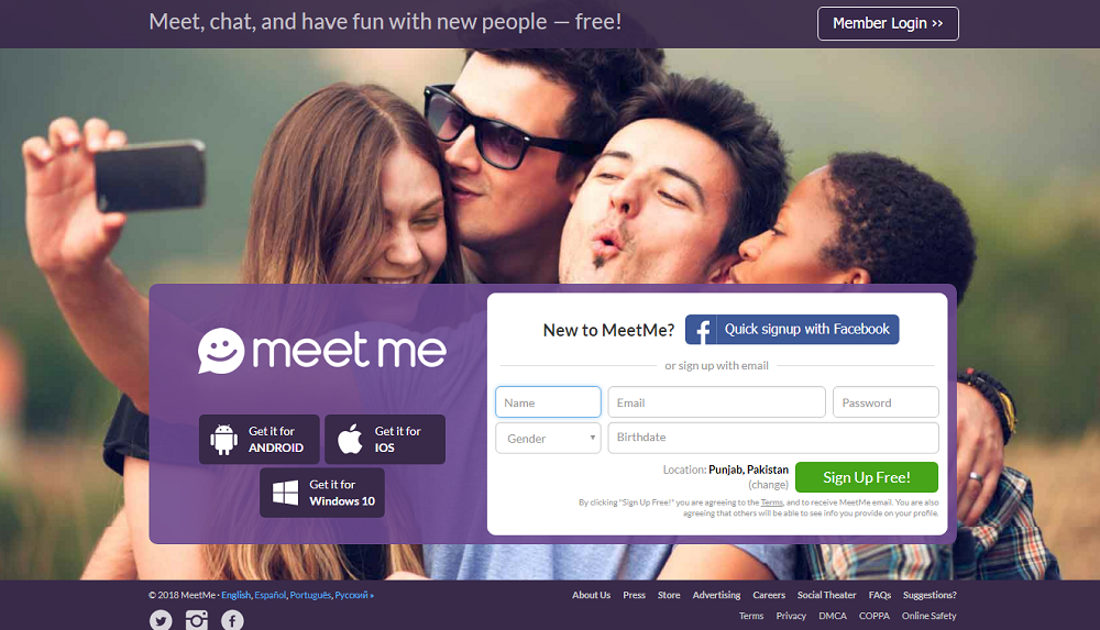 Free App 'MeetMe' Chat & Meet People Online dating