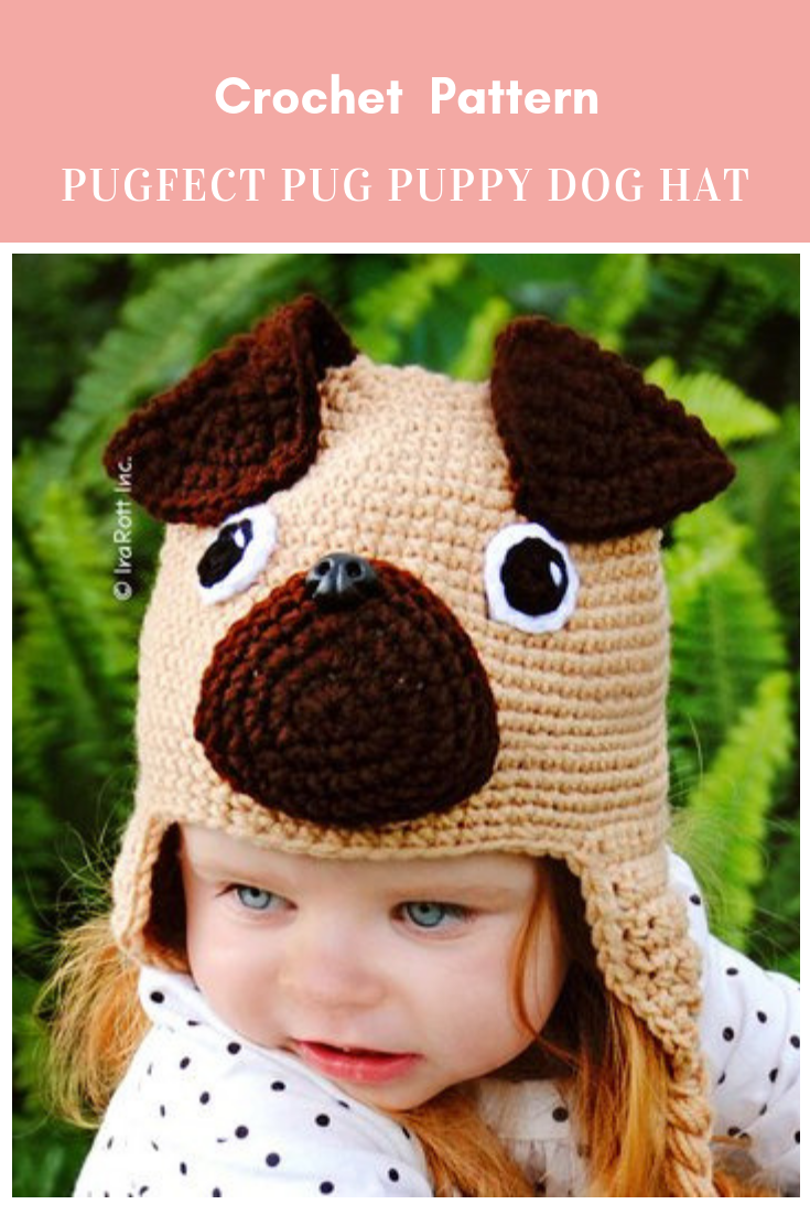 75d55001bf0 The Pugfect Pug Puppy Dog Hat Crochet Pattern  crochetpattern  crochet   crochethat  hatcrochetpattern  puppyhatcrochetpattern  crochetpuppycrochet  Affiliate ...