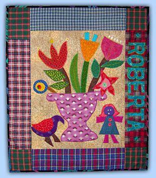 Roberta Horton: Workshops-Folk Art Bouquet