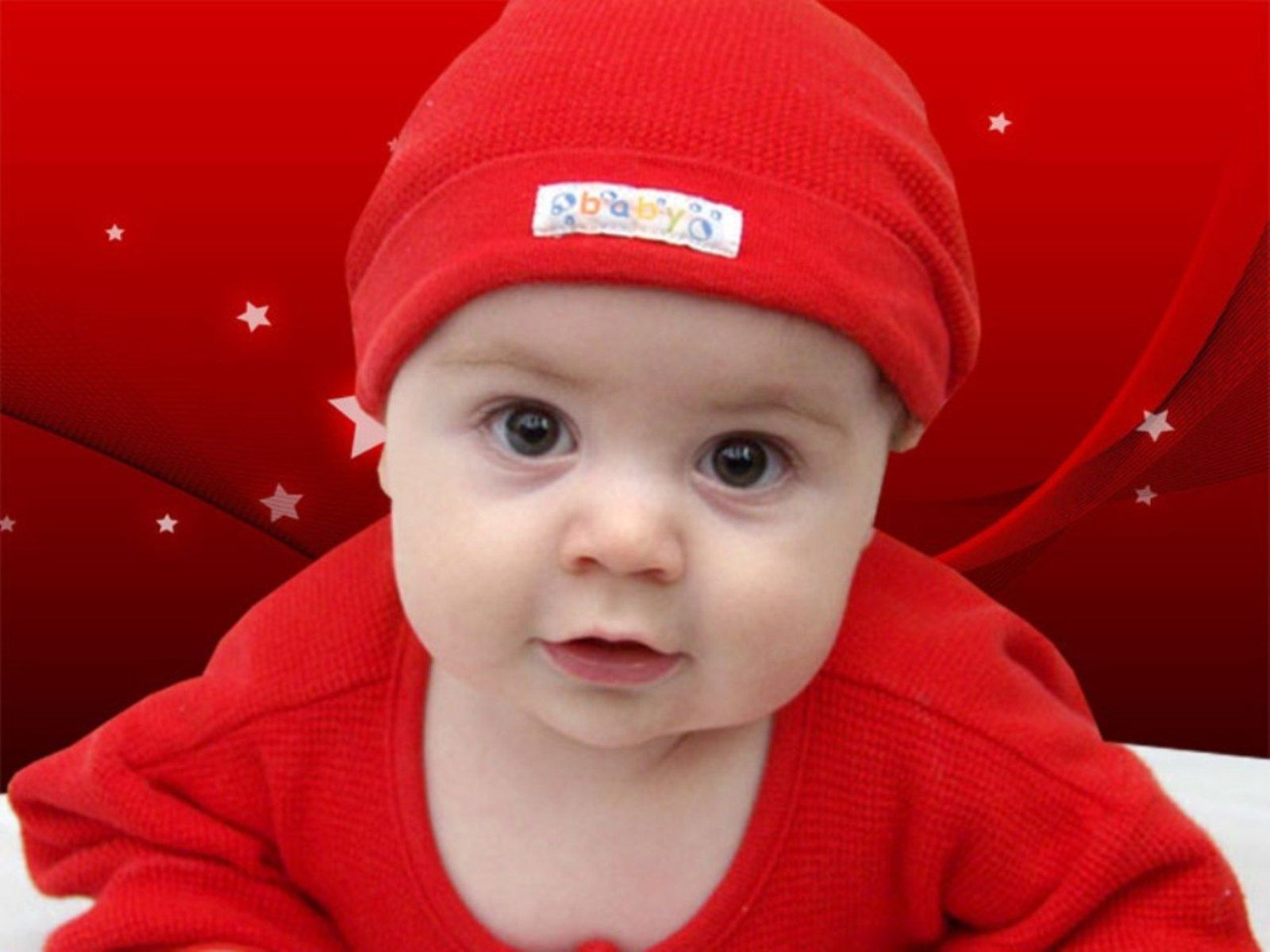 62b22556d1d6 Cute Baby In Red Dress Wallpaper