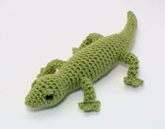 PDF Gecko (lizard) amigurumi CROCHET PATTERN   Gestrickt & Gehäkelt ...