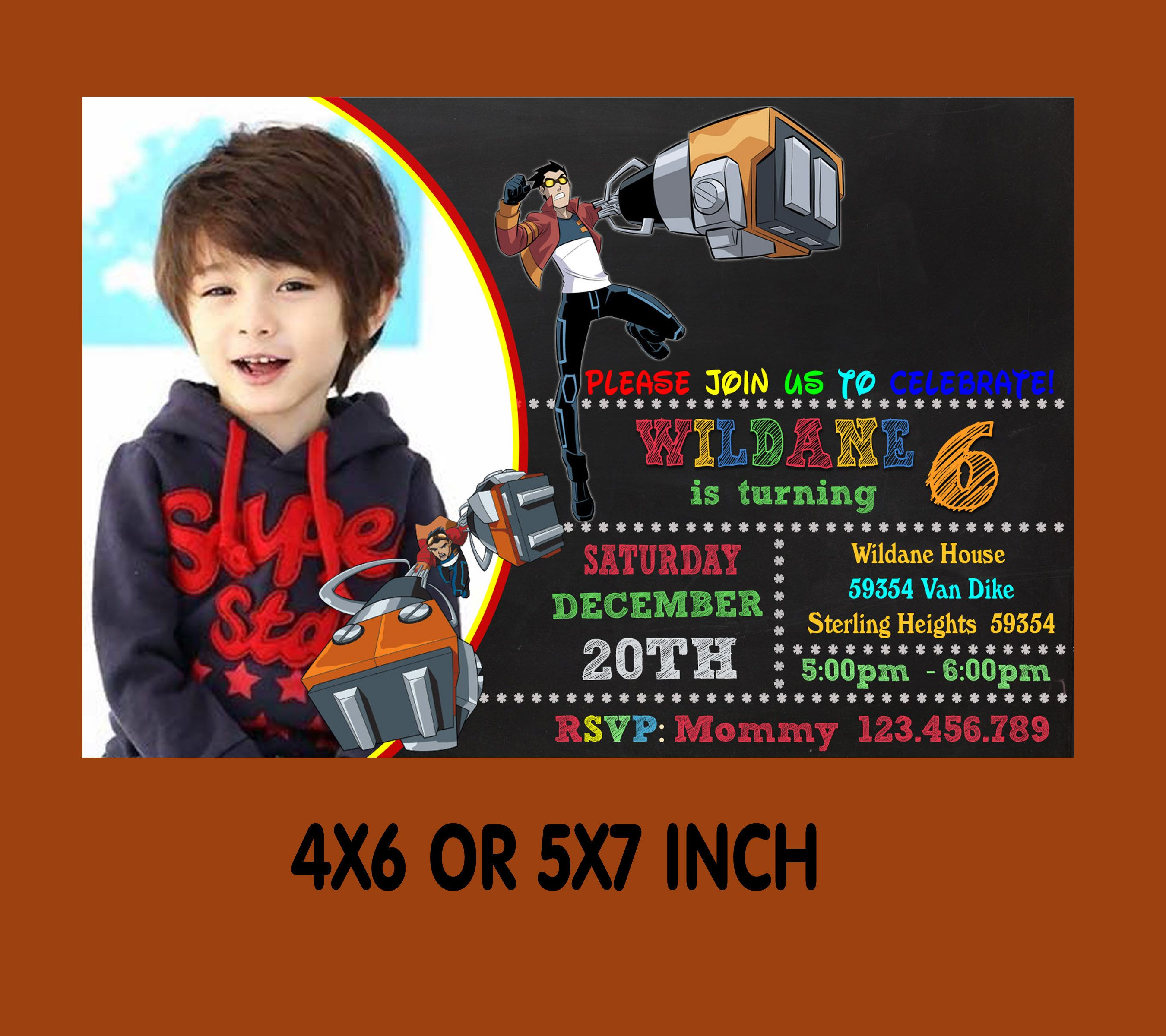 Generator Rex Birthday Invitation Party Printable Instant Download By MomontArt On Etsy