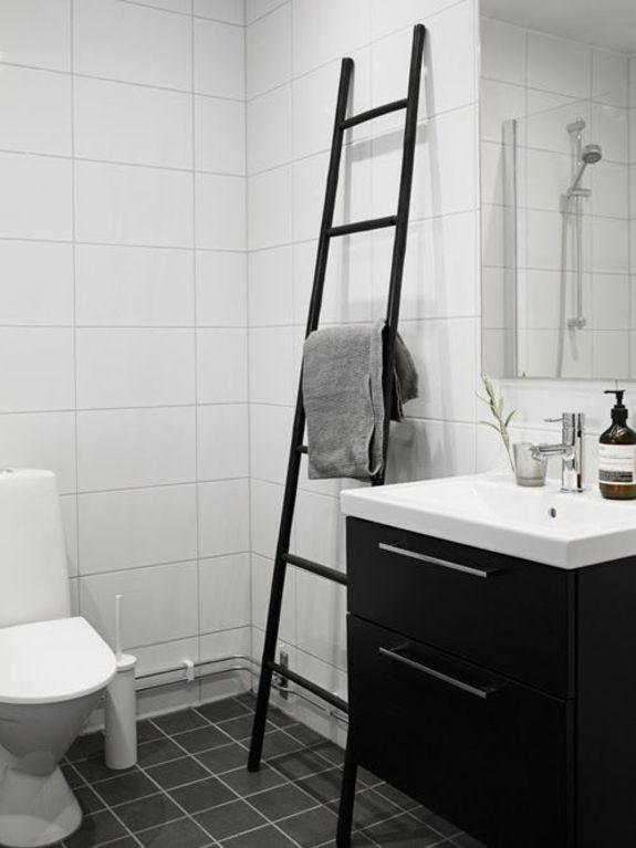 Holz Handtuchleiter sowohl im rustikalen, als auch im modernen - moderne deko badezimmer