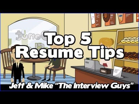 How To Write A Resume - Our Top 5 Resume Tips That Will Get You - how to write a resume that gets the interview