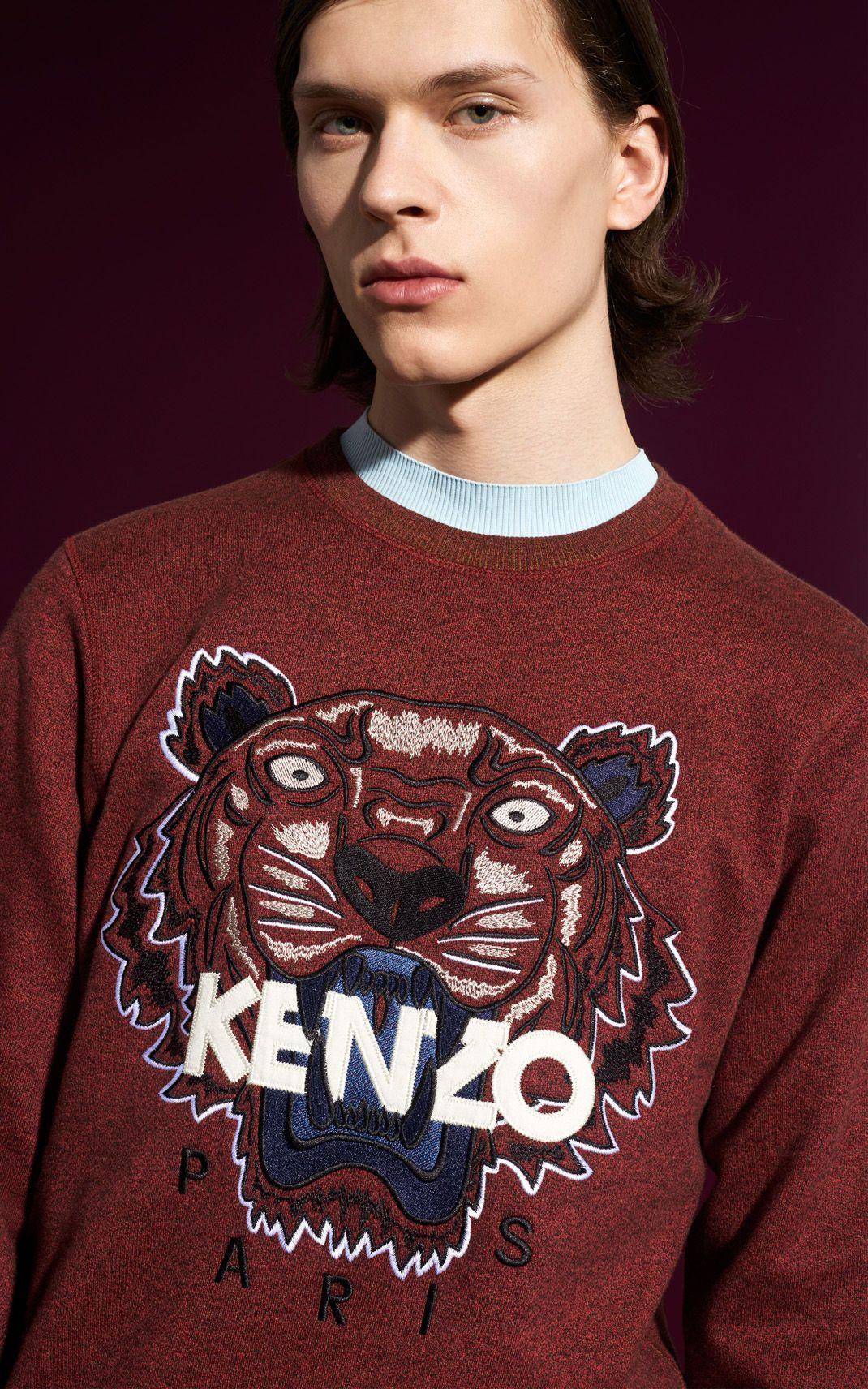 3c0c96a8 Tiger Sweatshirt, BORDEAUX, KENZO | Style Board 2016 in 2019 | Kenzo ...