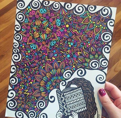 art, drawing, and book kép