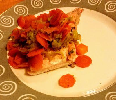La fantasia in cucina: Salmone con porri e carote alla salsa ...