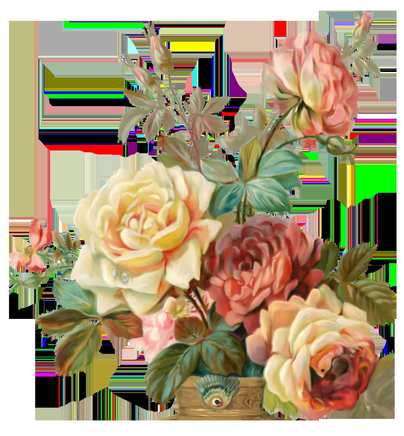 Картинки ретро цветы, день