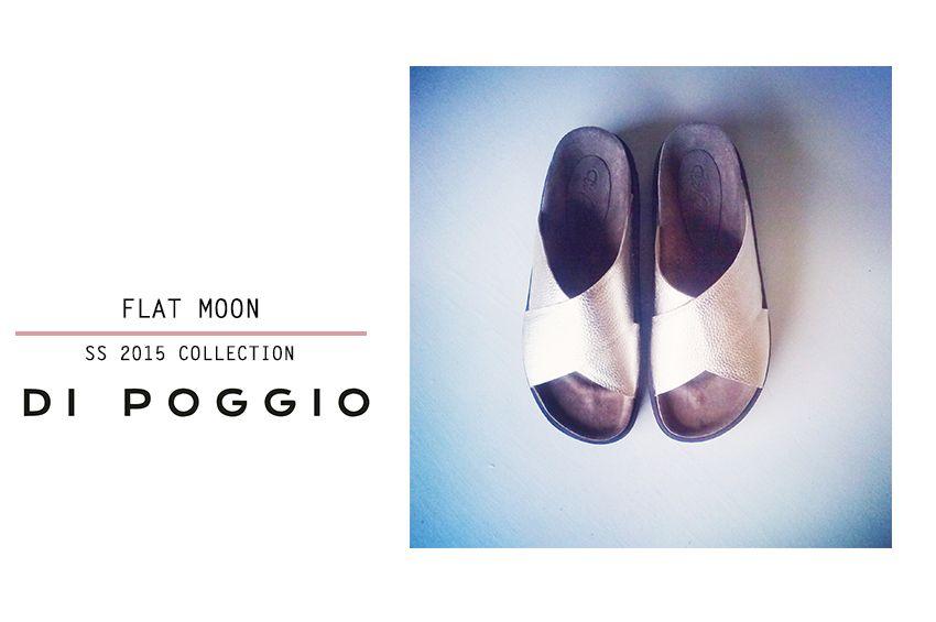 Flat•Moon•Cuero Metalizado Oro