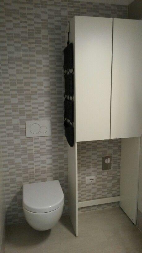 Bagno piccolo bianco grigio lavanderia | idee Bagno | Pinterest