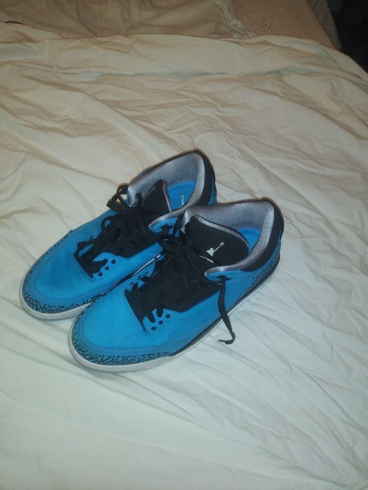outlet store 5558b 1af97 Nike Air Jordan Retro 3 Powder Blue Size 11.5  fashion  clothing  shoes