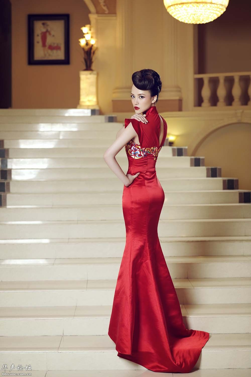 Brainy Mademoiselle Red Qipao Or Red Cheongsam Red Chinese Dress Red Wedding Dresses Red Chinese Wedding Dress [ 1500 x 1000 Pixel ]