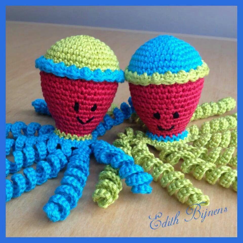 Deze inktvisjes zijn gemaakt door Edith Bijnens.   chobotnice ...