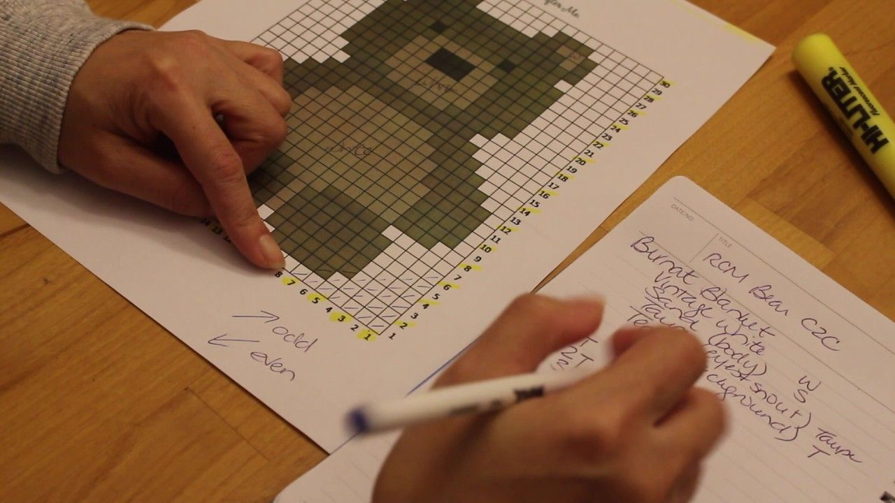 C2C or Tapestry Crochet: How to Make a Word Chart from a Graph for ...