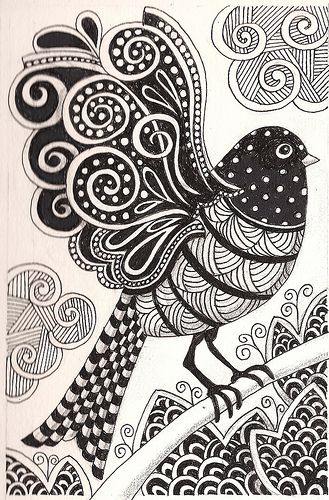 Bird Zentangle 31 Coloring