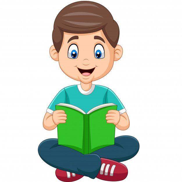 Nino De Dibujos Animados Leyendo Un Libro Vector Premium Free Vector Freepik Vector Freeescuel Ninos Leyendo Animados Ninos Dibujos Animados Ninos Leyendo