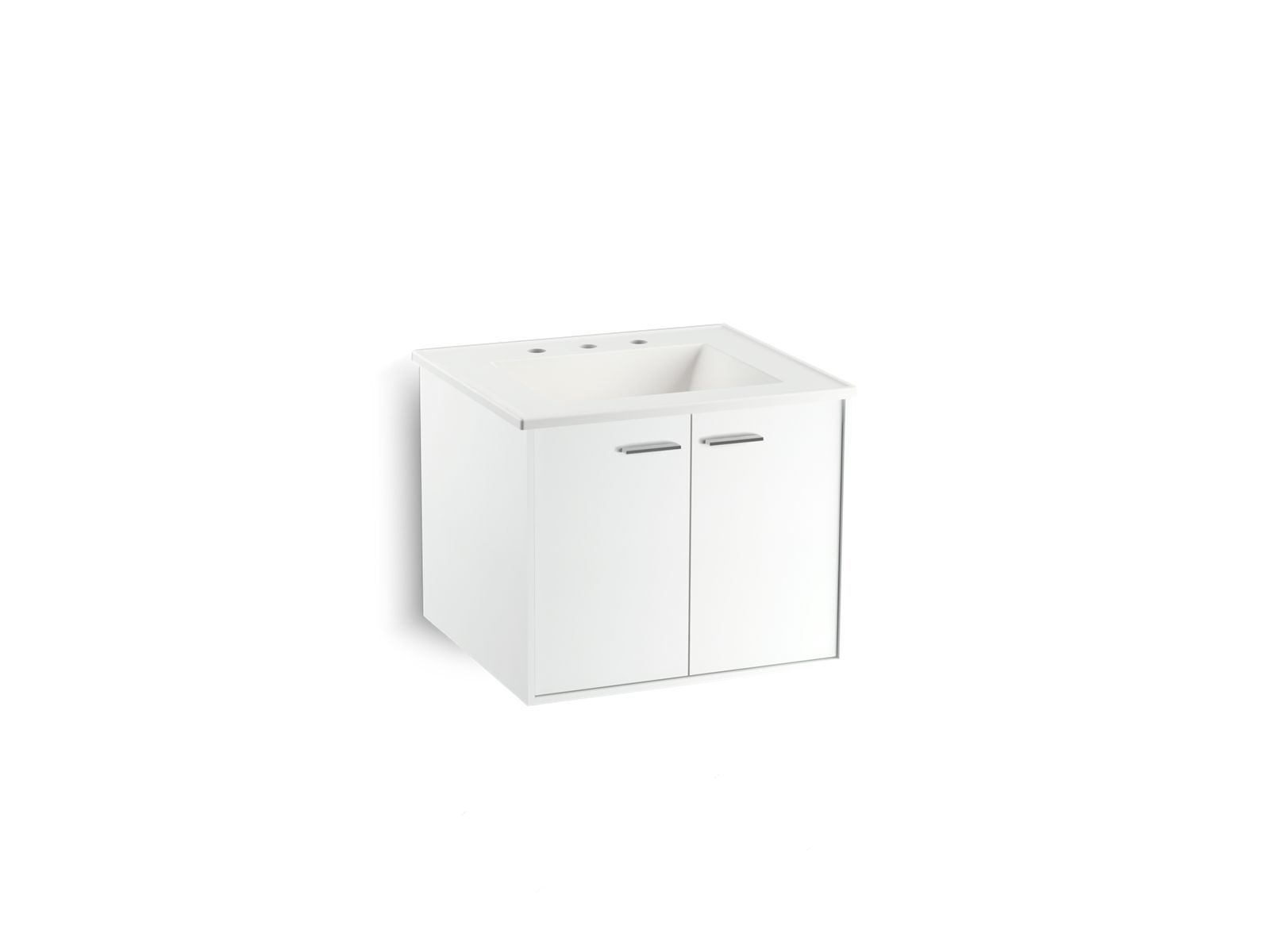 Part of the KOHLER Tailored vanity collection the Jute bathroom vanity bines the warmth of wood with a modern wall hung design