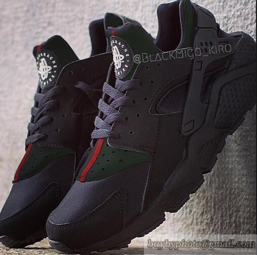 62cea0bb9cc2 GUCCI RACHE Nike Air Huarache Black X Gucci