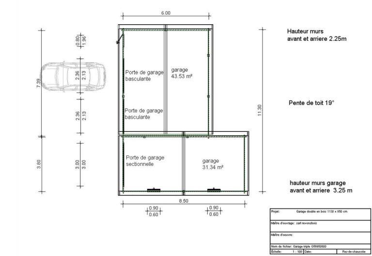 Exemple De Plan Garage Logiciel Gratuit Design Maison Pour Permis Davidreed Co Plan Garage Garage Maison Design