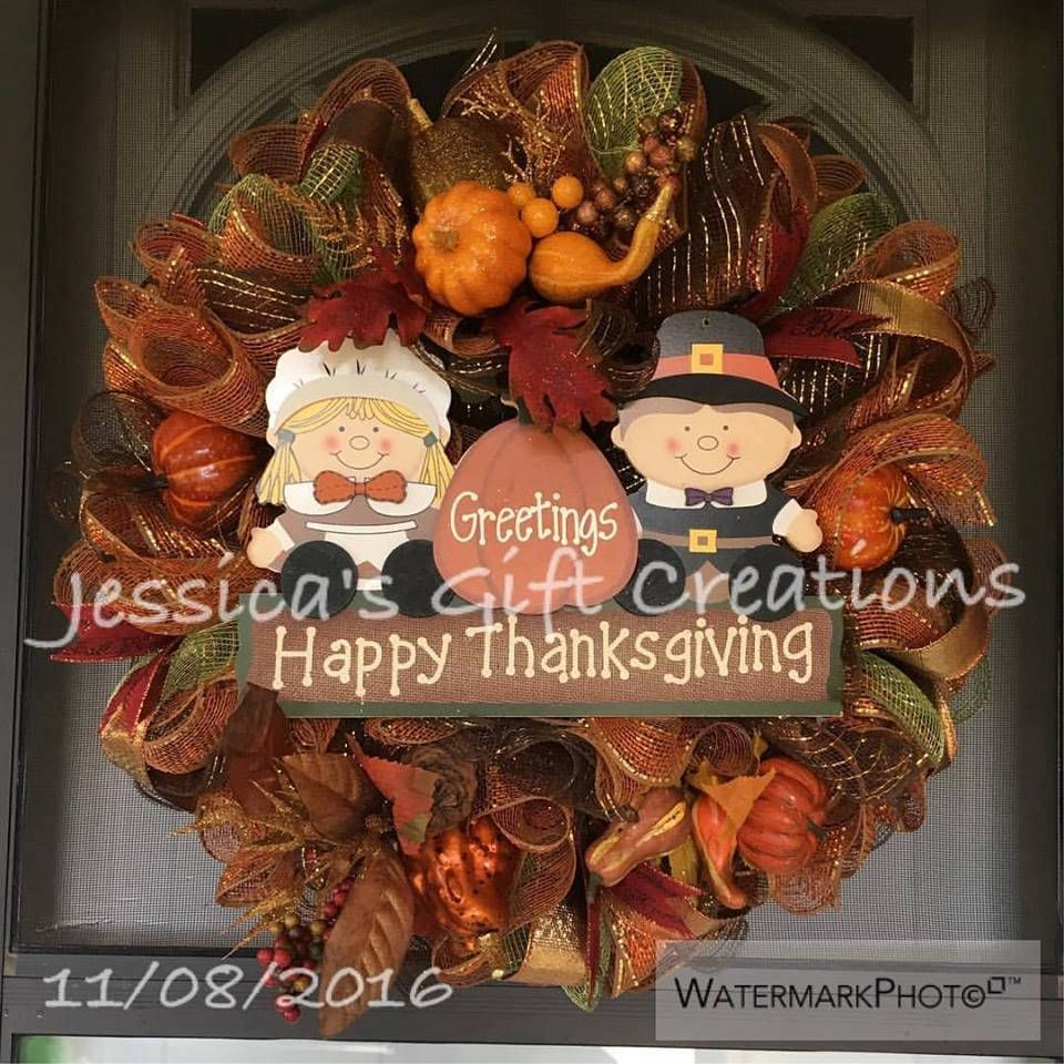 Made To Order Thanksgiving Mesh Wreath/Seasonal Wreath/Fall Door  Hanger/Autumn Wreath