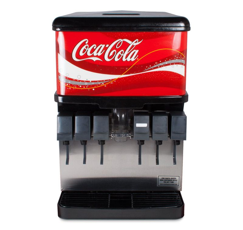 6 Flavor Ice Beverage Soda Fountain System Front Soda Fountain Flavor Ice Iced Drinks