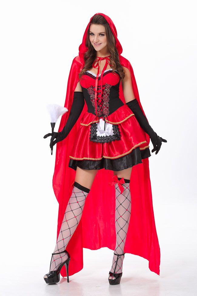 cc6dcdb8c9f Hot dresses all on NewChic Page. New Coming Sexy Women's 3pcs Little Red  Riding Hood Costume $15.48